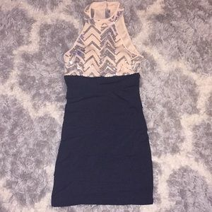 Sleeveless Short Dress With Sequences